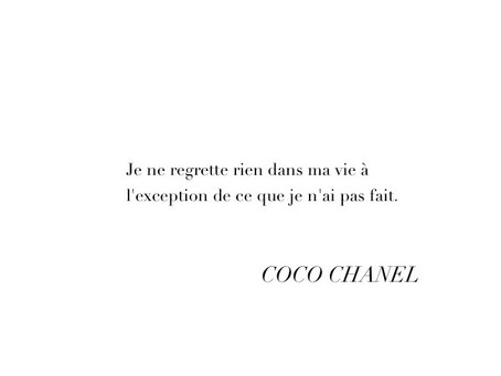 | Mood | By Coco Chanel