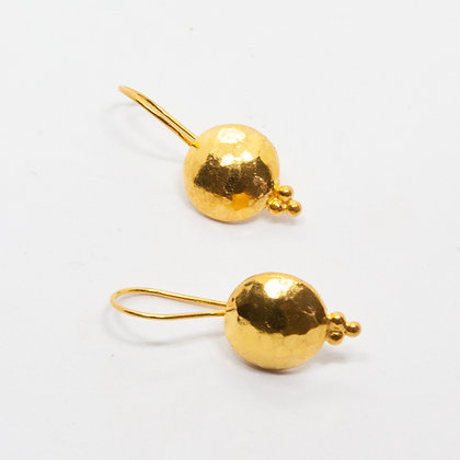 Pery | Boucles d'oreilles en argent 925 doré à l'or fin 18K