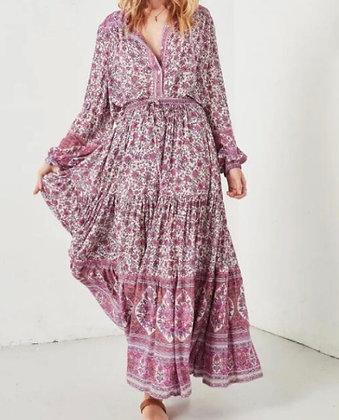 Jupe longue boho rose | Boho blouse