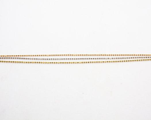 bracelet multi rangs 3 ors - bijoux createur - the boho society