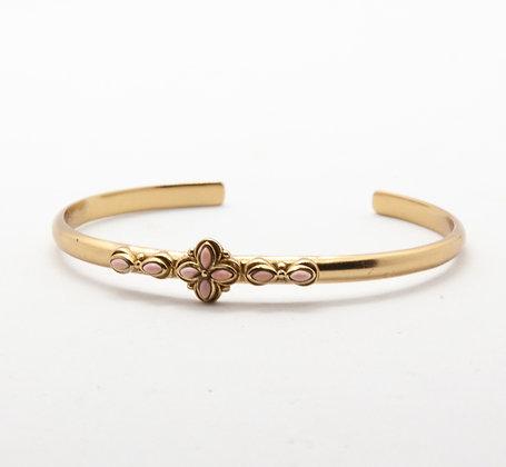 Flora | Bracelet jonc de créateur opale