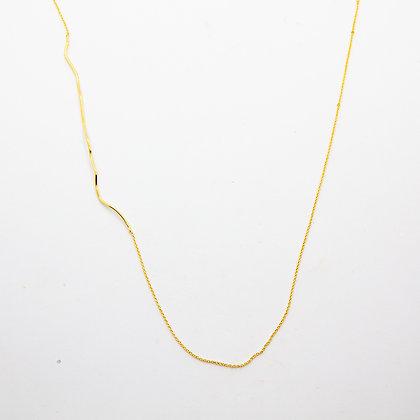 Lunes | Collier sautoir doré à l'or fin 24 carats