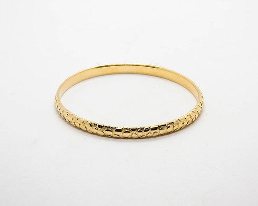 bracelet jonc laiton plaque or - bracelet createur boheme - bracelet shabada- the boho society