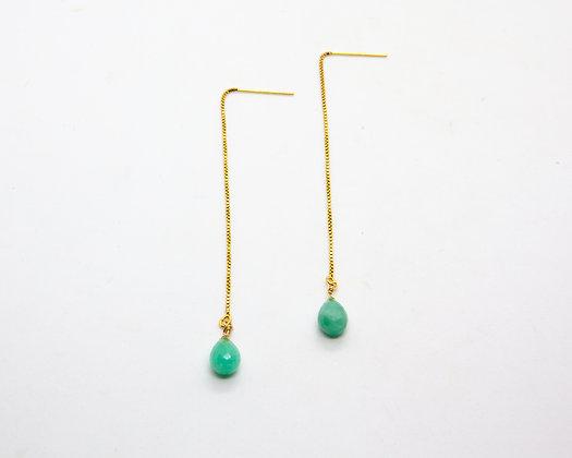 boucles d oreilles pendantes et émeraudes - bijoux createur - the boho society