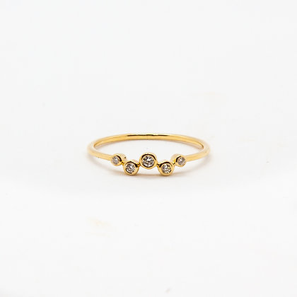 Eloise bague or 14K et diamants | Eloise gold 14K & diamonds