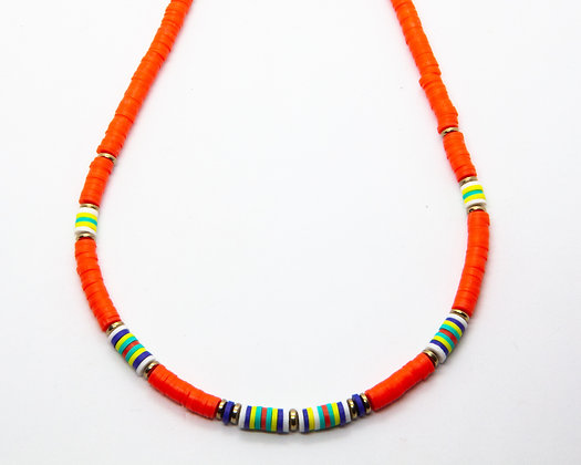 collier surfer corail- collier ete coquillage - collier createur boho chic - the boho society