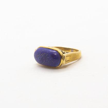 bague pierre bleue - bague lapis lazuli - bague pierre semi precieuse - bijoux boheme - the boho society