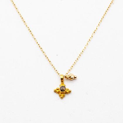 Iris collier en or 14 carats   Iris gold 14K necklace