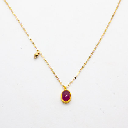 Tamara collier Or  tourmaline rose | Tamara gold necklace