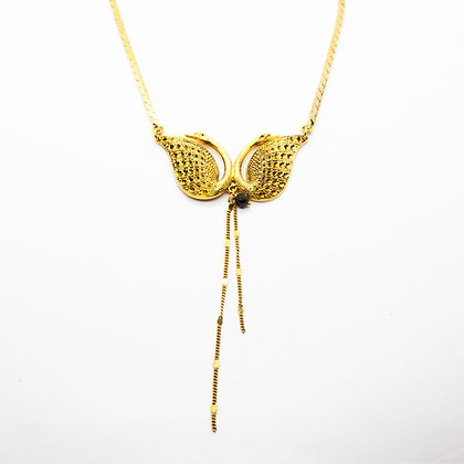 Swan | Collier de créateur en plaqué or