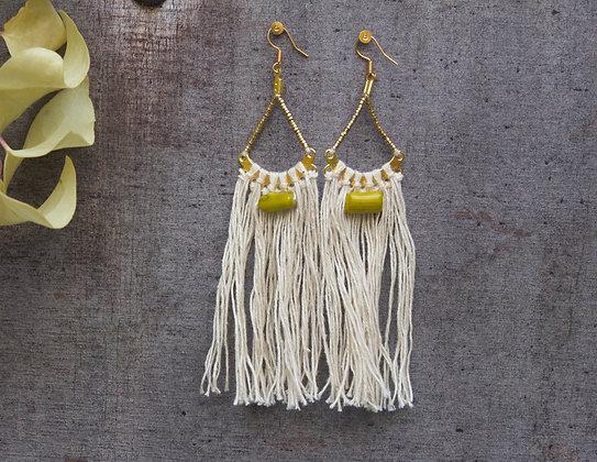 The boho society–bijoux de createur–bijoux hippie chic–bijou boho–macrame– bijou macramé–emilie renard-boucle oreille macrame