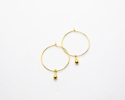 Pampille | Boucles d'oreilles créoles plaqué or