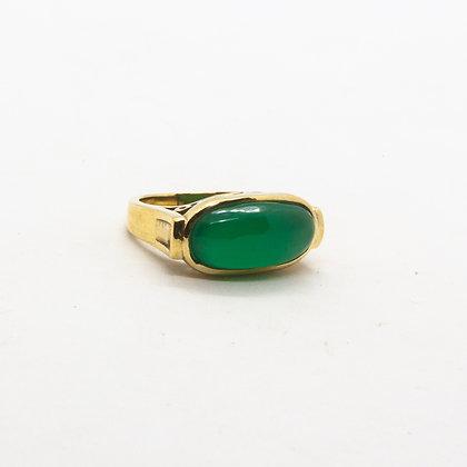 bague pierre verte - bague onyx vert - bague pierre semi precieuse - bijoux boheme - the boho society