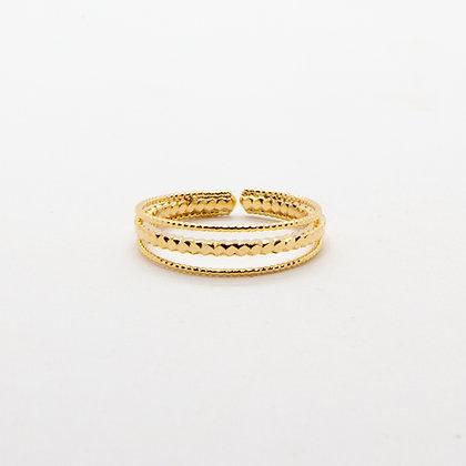 Stilo | Bague 3 anneaux en plaqué or 3 microns