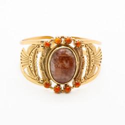 bracelet manchette femme et pierres semi