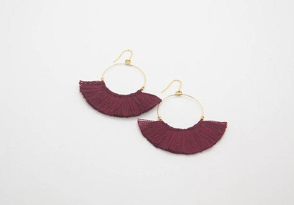 the boho society-bijoux de createurs-boucles d'oreilles pompon-bijoux boheme