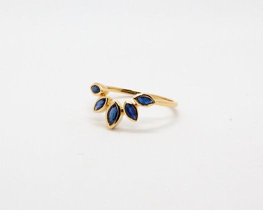 bague or 14 carats et saphirs bleus - bijoux createur - bijoux boheme - boho chic - the boho society