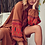 The boho society - robe kaftan brodée cannelle - boho chic
