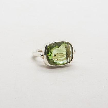 Calypso bague argent Quartz vert  | Calypso ring