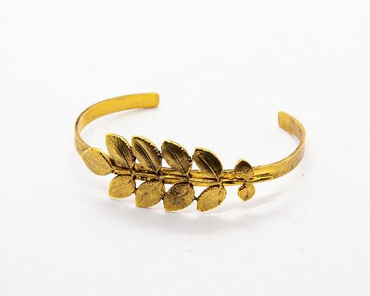 bracelet jonc feuilles lotta djossou - bijoux createur - bijoux boheme - boho chic - the boho society