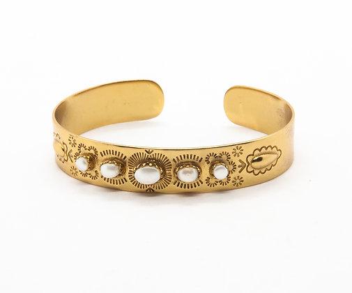 bracelet suzette - bracelet jonc femme - l'atelier plume - bijoux boheme - the boho society
