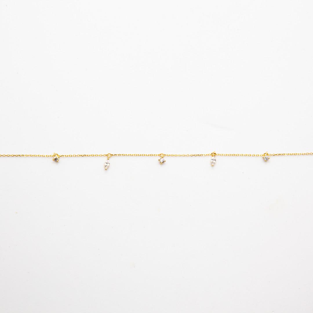 bracelet femme or - bracelet or fin - bi