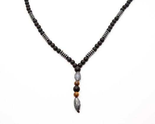 Collier Mala perles naturelles - collier homme bouddhiste- collier homme boho chic - bijoux homme - the boho society