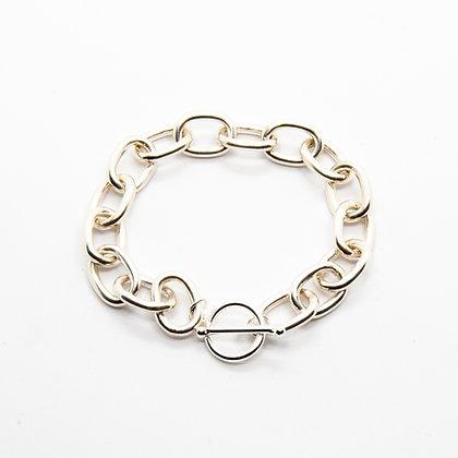 Eloi | Bracelet maille large en argent 925