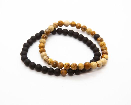 bracelet homme pierre naturelle - bijoux homme - the boho society