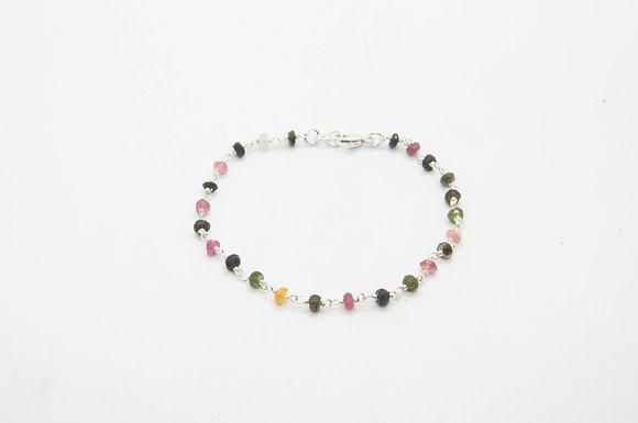 the boho society - bijoux de createur - bracelet Rosas en argent 925 et pierre fines  - chaine rosaire