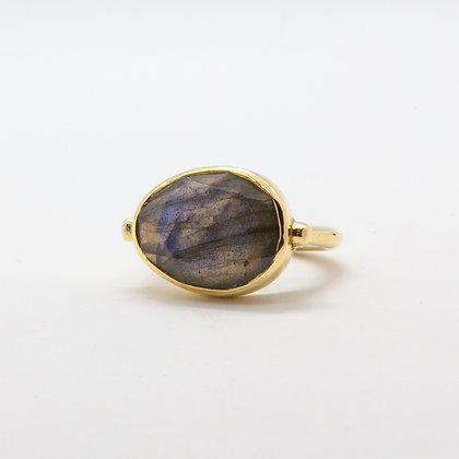 Ama | Bague Labradorite pierre semi-precieuse naturelle