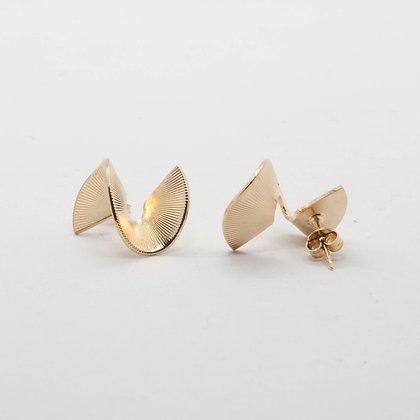 Twist | Boucles d'oreilles en plaqué or 3 microns
