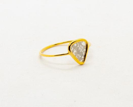 bague en or 14 carats diamant slice - bijoux createur - bijoux boheme - the boho society