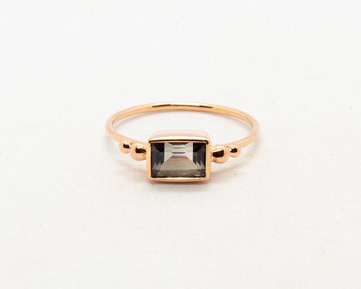 bague en or 9 carats tourmaline verte - bijoux createur - bijoux boheme - the boho society