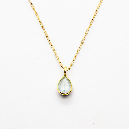 Demi collier Aigue marine | Demi necklace