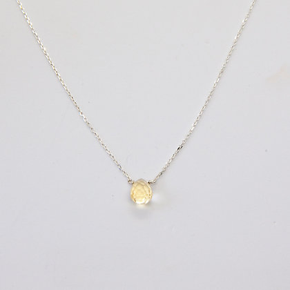 Calliste collier argent citrine | Calliste necklace