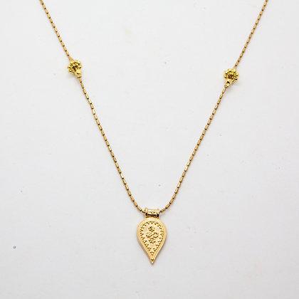 Boho | Collier de créateur mi-long en plaqué or