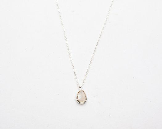 collier femme argent pendentif pierre de lune  - bijoux createur - bijoux boheme - boho chic - the boho society