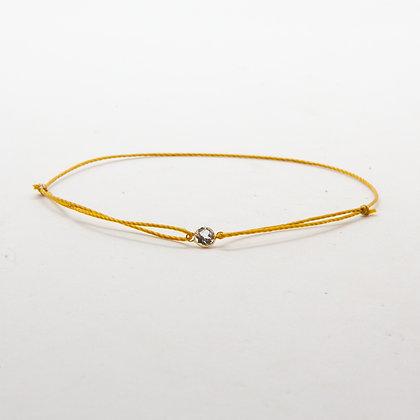 Gabi | Bracelet cordon et topaze sertie en or 14 carats
