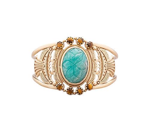 bracelet manchette Dakota amazonite atelier plume- bijoux bohème - bijoux createur - bijoux boho - the boho society