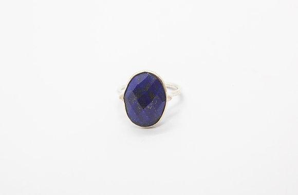 bague ethnique en argent lapis lazuli - bague de createur - the boho society