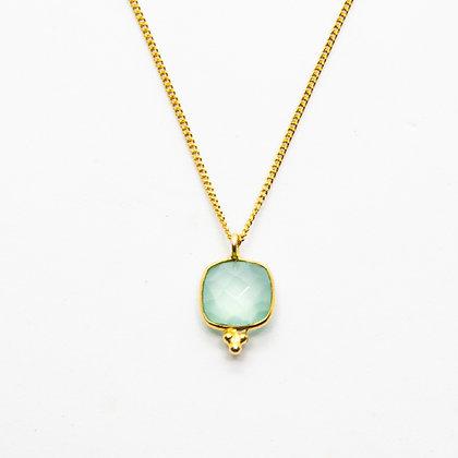 Demi collier calcédoine | Demi chalcedony necklace