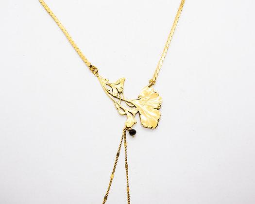 collier ginkgo lotta djossou - bijoux createur - bijoux boheme - boho chic - the boho society