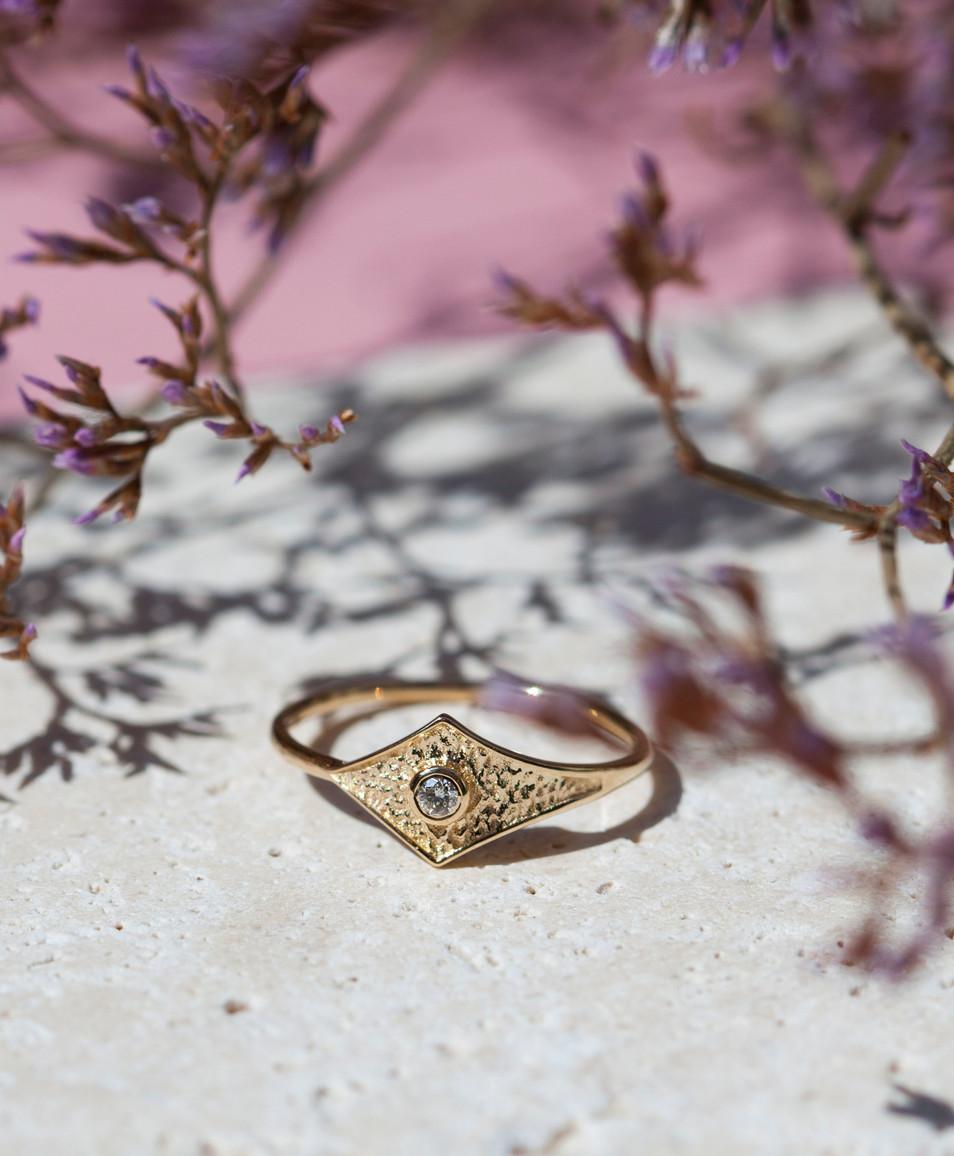 bague on or et diamant - bijoux createur