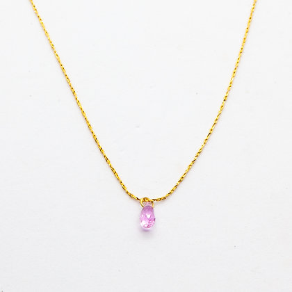 Jully collier saphir rose | Jully necklace