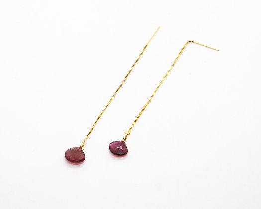 boucles d oreilles pendantes et tourmaline - bijoux createur - the boho society
