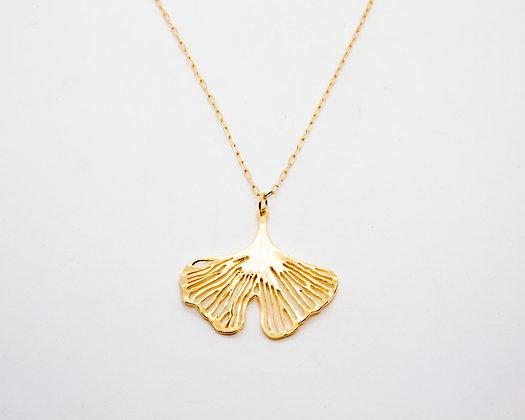 collier ginkgo - collier plaqué or - bijoux createur - bijoux boheme - the boho society