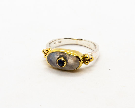 bague argent pierre de lune - bague pierre de lune - bague canyon - bijoux boheme - bijoux createur - the boho society