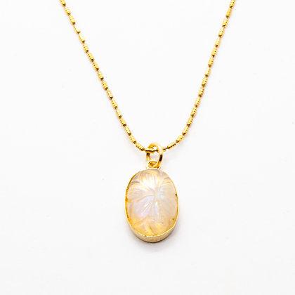 India collier Pierre de lune | Moonstone necklace