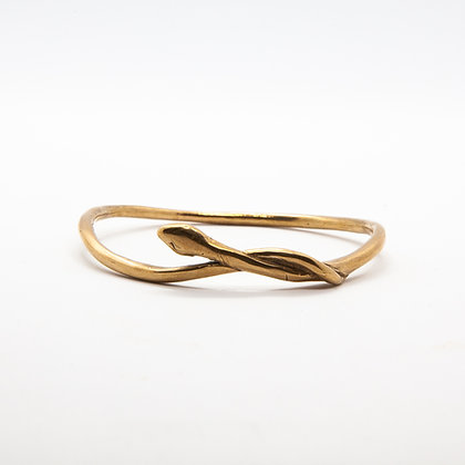 Serpent | Bracelet jonc de créateur en bronze massif